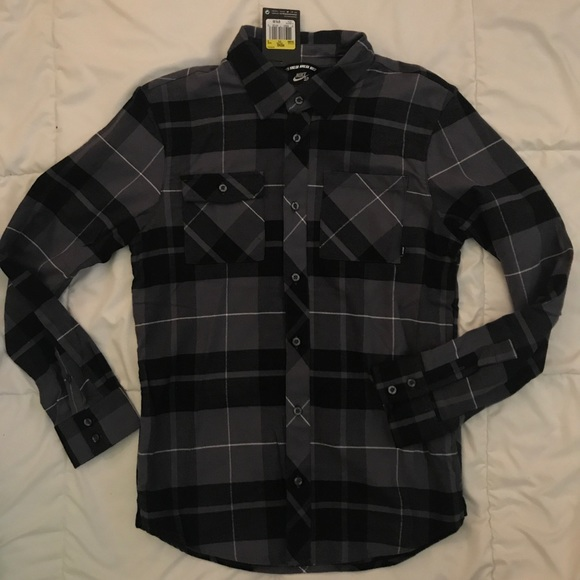 6e8ab126 Nike Shirts | Sb Button Up Plaid Shirt Mens Size Small Nwt | Poshmark
